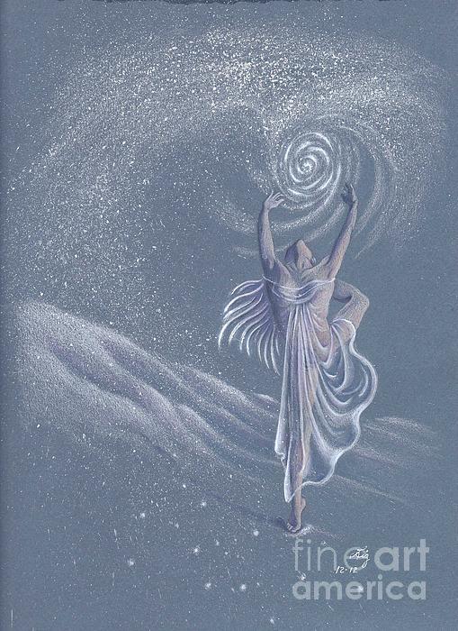 Music Painting - Vivaldi The Four Seasons Winter      by Elizabeth Dobbs