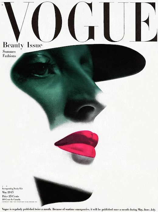 Vogue Cover Featuring A Womans Face Photograph by Erwin Blumenfeld