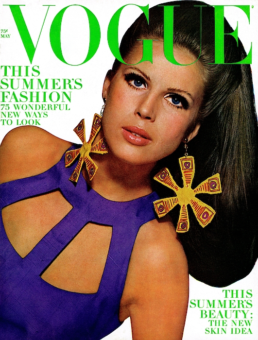 Vogue Cover Featuring Birgitta Af Klercker Photograph by Bert Stern