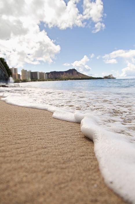 Angle Photograph - Waikiki Shore by Brandon Tabiolo