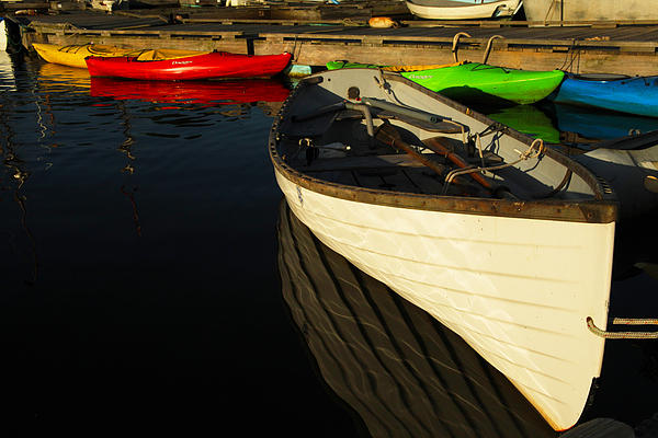 Boats Photograph - Waiting At The Dock by Karol Livote