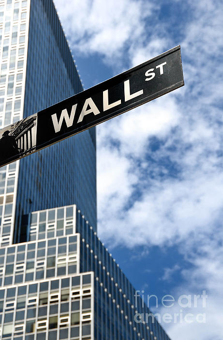 Financial District Photograph - Wall Street Street Sign New York City by Amy Cicconi