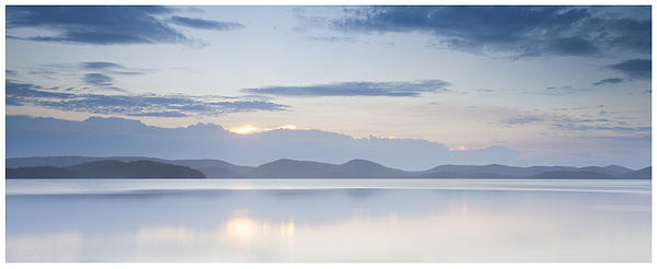 Lake Photograph - Wallis Lake Sunset by Steve Caldwell