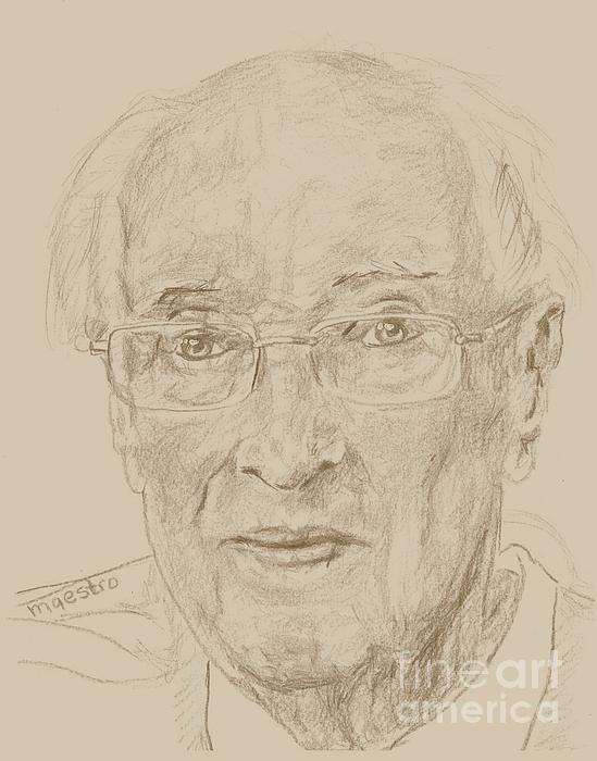 Elderly Drawing - Walter by PainterArtist FIN