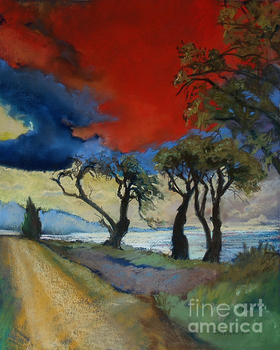 Red Sky Pastel - Wander Where The Wind Blows by Robin Maria Pedrero