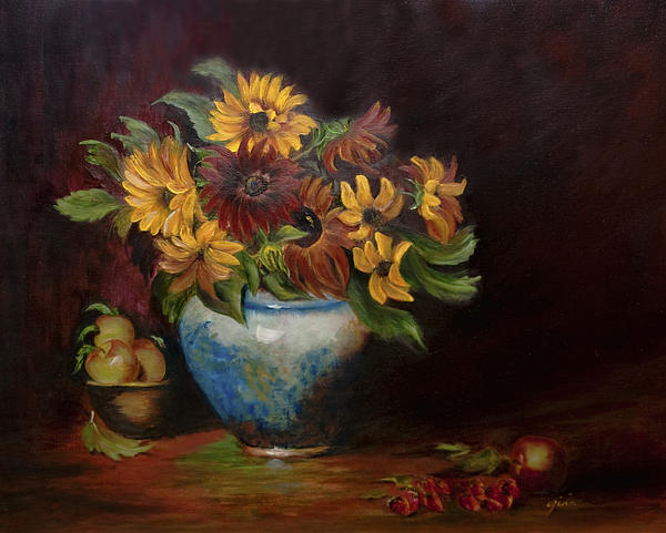 Sunflowers Painting - Warmth by Gina Cordova