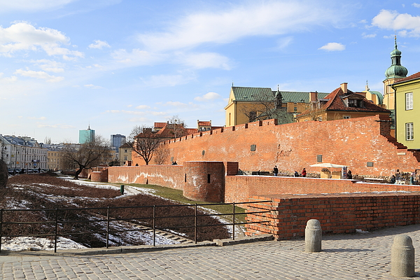 Warsaw Old Town Wall And Castle Photograph by Pejft