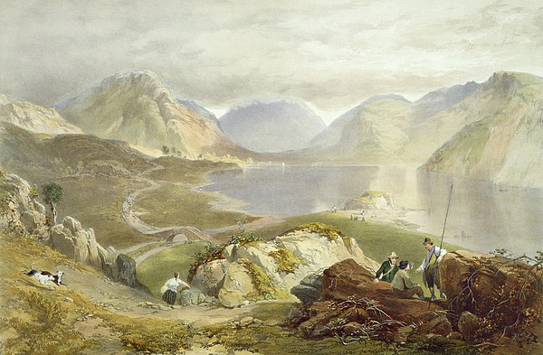 Print Drawing - Wast Water, From The English Lake by James Baker Pyne