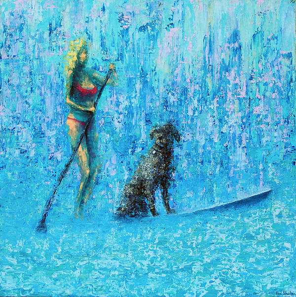 Ocean Painting - Water Dog by Ned Shuchter