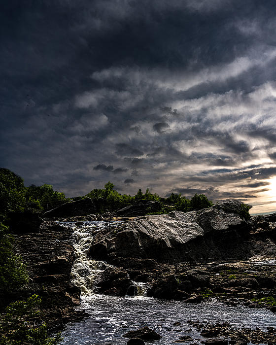 Waterfall Photograph - Waterfall At Sunrise by Bob Orsillo