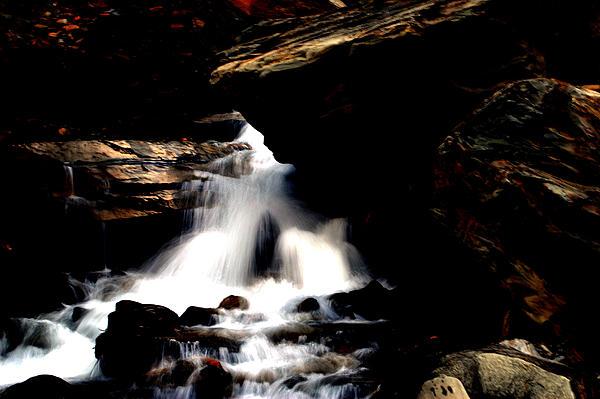 Waterfall Photograph - Waterfall- Viators Agonism by Vijinder Singh