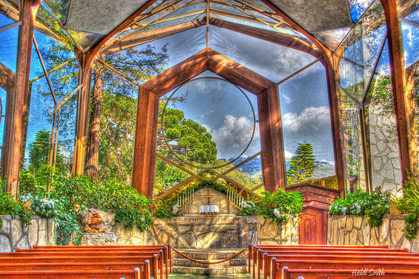 Architecture Photograph - Wayfarers Chapel by Heidi Smith