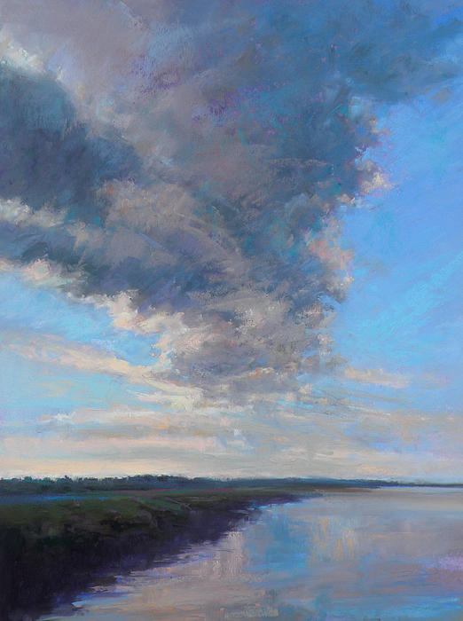Clouds Painting - Wayward by Ed Chesnovitch