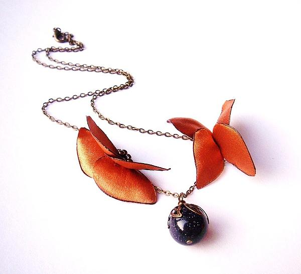 Butterfly Jewelry - Wearable Art . Never Ending Love . One Of A Kind Necklace by Marianna Mills