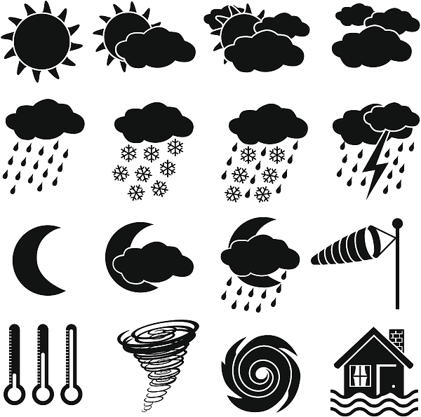 Weather Icons Drawing by Kathykonkle