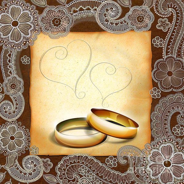 Decoration Digital Art - Wedding Memories V1a Classic by Peter Awax