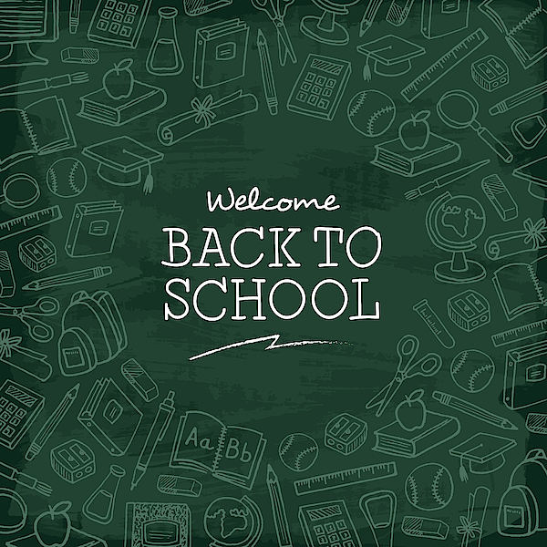 Welcome Back To School Background. Drawing by Discan