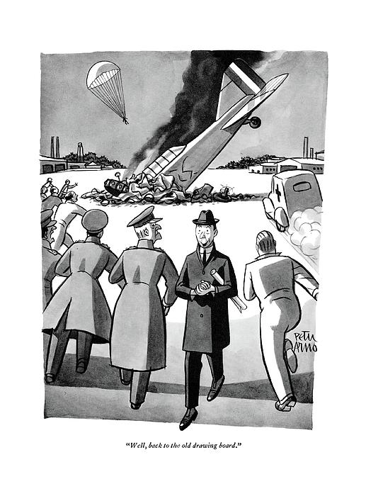 Well, Back To The Old Drawing Board Drawing by Peter Arno