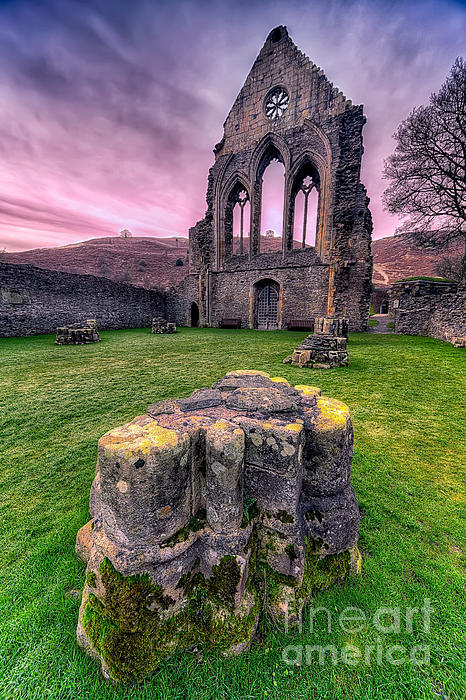 13th Century Photograph - Welsh Abbey  by Adrian Evans