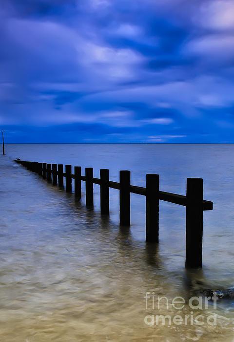 Beach Photograph - Welsh Seascape by Adrian Evans