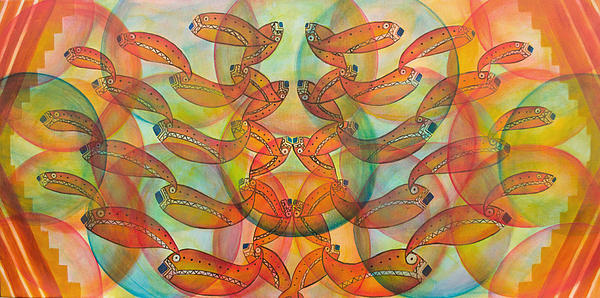 Fish Painting - Were In Plain Sight by Coqle Aragrev