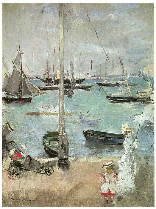 Berthe Morisot Painting - West Cowes Isle Of Wight by Berthe Morisot