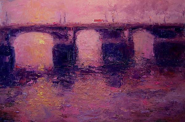 Westminster Painting - Westminster Bridge In Winter Light by R W Goetting