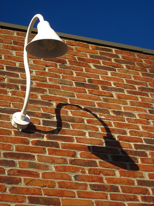 Lamps Photograph - White Lamp With A Dark Secret by Guy Ricketts
