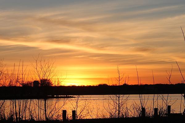 White Rock Lake Photograph - White Rock Lake Sunset by Lorri Crossno