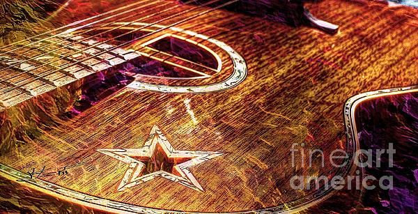 Acoustic Photograph - Wicked Music Digital Guitar Art By Steven Langston by Steven Lebron Langston