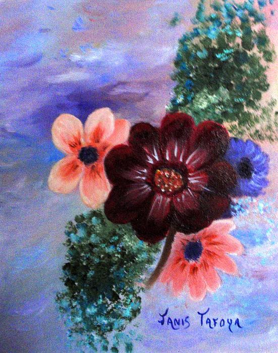 Janis_tafoya Painting - Wild Flowers by Janis  Tafoya