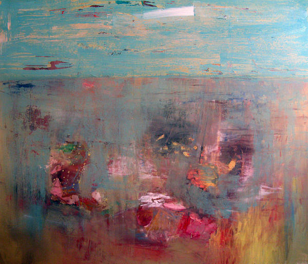 Abstract Landscape Painting - Wilflowers by Brooke Wandall