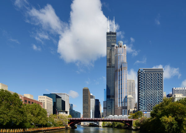 Willis Photograph - Willis Tower And 311 South Wacker Drive Chicago by Christine Till