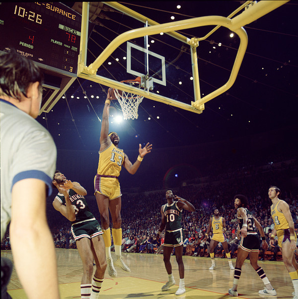 Marvin Newman Photograph - Wilt Chamberlain Dunks by Retro Images Archive