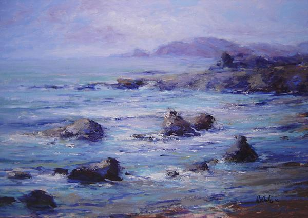 Wind Painting - Wind On The Surf by R W Goetting