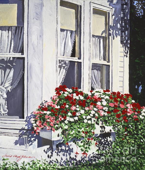 Window Box Painting - Window Box Colors by David Lloyd Glover