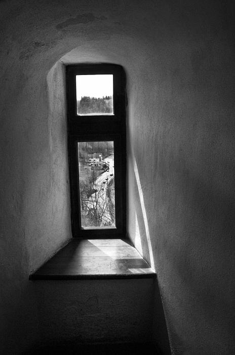 Transylvania Photograph - Window Draculas Castle Interior204 by Dorin Stef