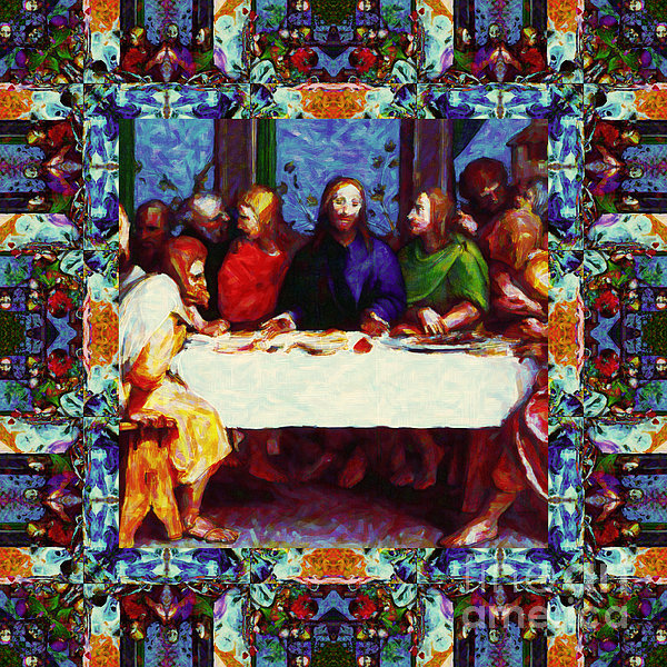 Religion Photograph - Window Into The Last Supper 20130130p0 by Wingsdomain Art and Photography