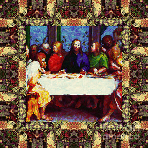 Religion Photograph - Window Into The Last Supper 20130130sep by Wingsdomain Art and Photography