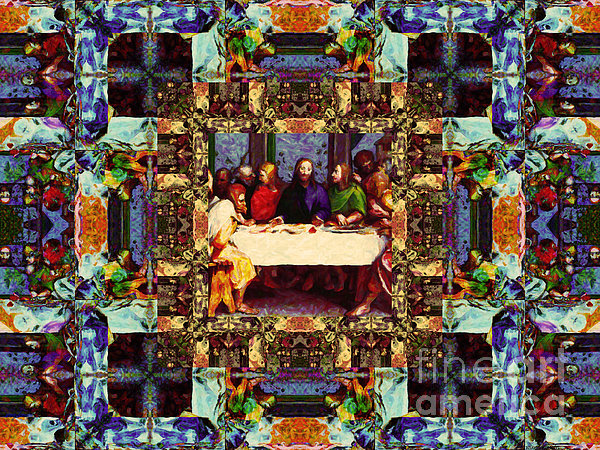 Religion Photograph - Window Into The Last Supper 20130130v2-horizontal by Wingsdomain Art and Photography