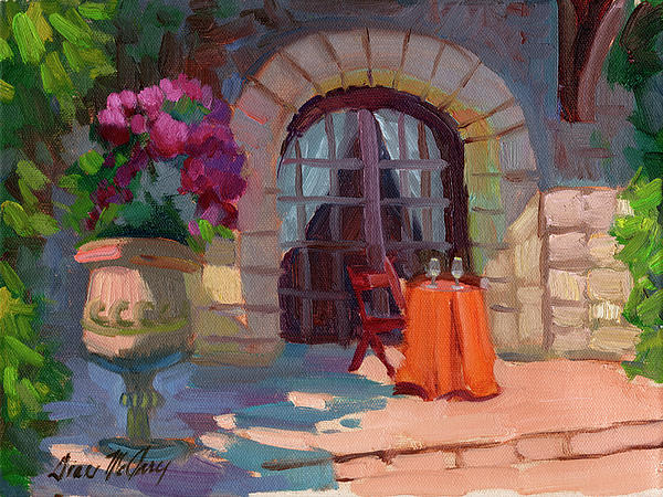 Bistro Painting - Wine For Two by Diane McClary