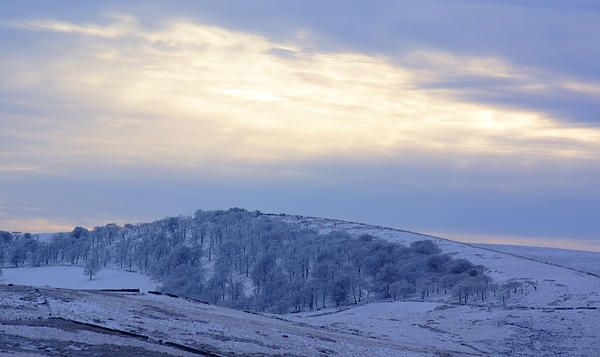 Winter Photograph - Winter Dusk Near Buxton by David Birchall