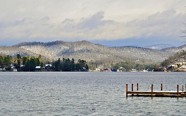 Lake Photograph - Winter On The Lake by Susan Leggett