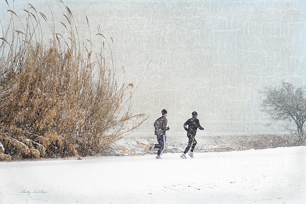 Runner Photograph - Winter Runners by Betty LaRue