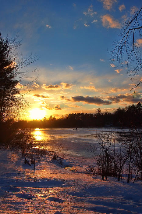 Winter Sunset Photograph - Winter Sundown by Joann Vitali