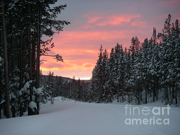 Winter Photograph - Winter Sunset by Jeanette French