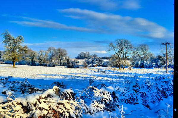 Snow Photograph - Winters View by Dave Woodbridge