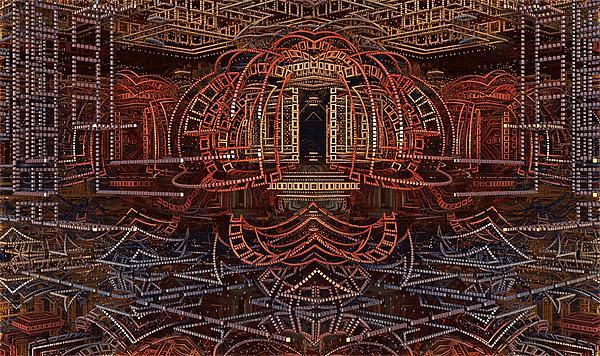 Fractal Art Digital Art - Wireframe Of Thunderdome by Ricky Jarnagin