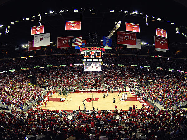 Madison Photograph - Wisconsin Badgers Kohl Center by Replay Photos