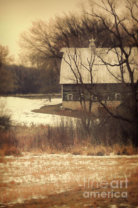 Rural Photograph - Wisconsin Barn In Winter by Jill Battaglia